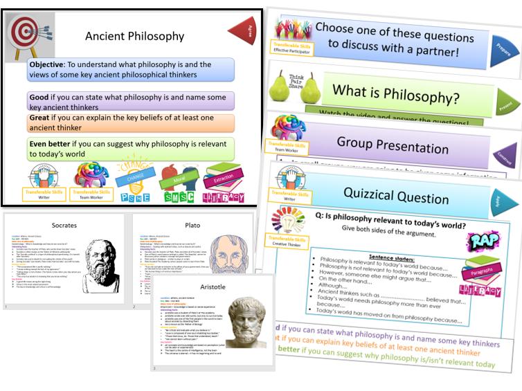 Ancient Beliefs: Introduction to Ancient Philosophy - Whole Lesson