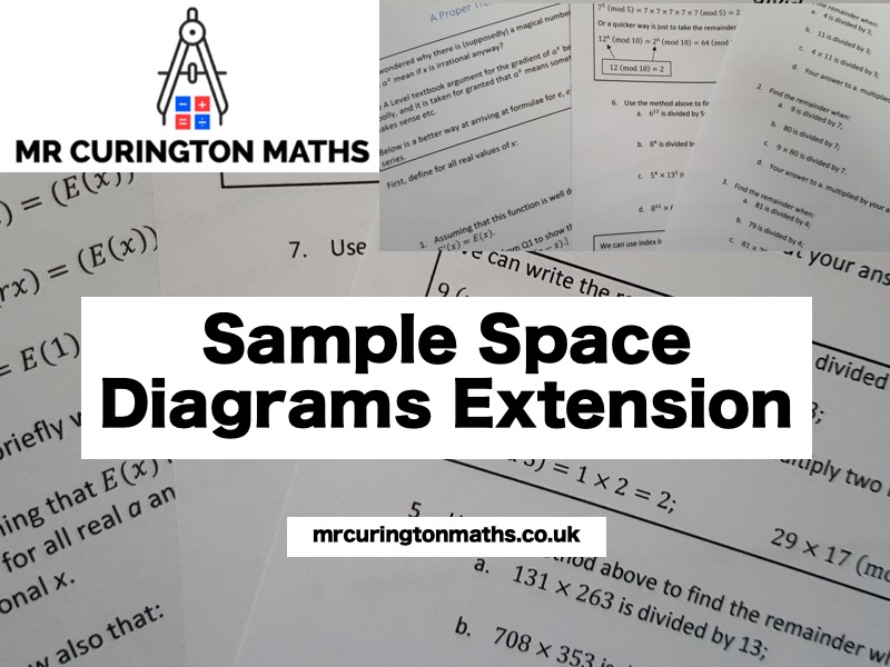 Sample Space Diagrams Extension