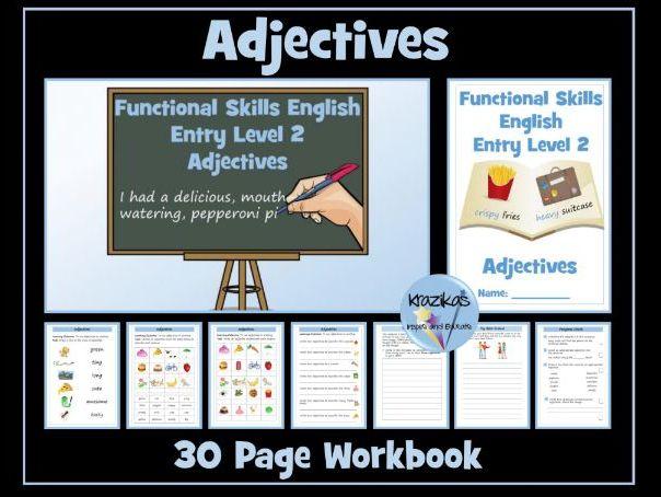 English Functional Skills - Entry Level 2 - Writing - Adjectives