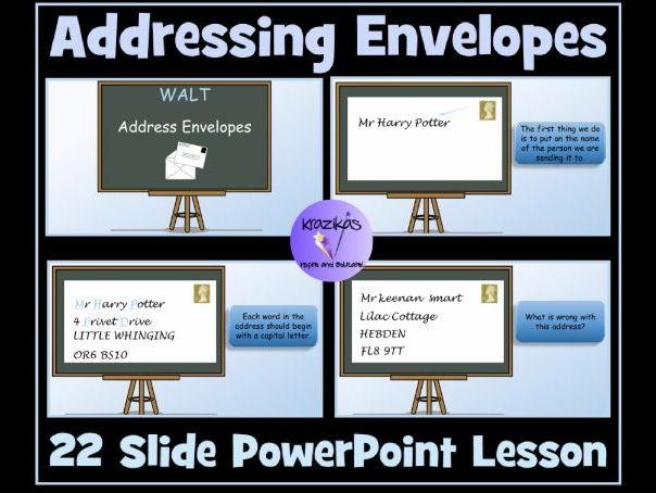 Addressing Envelopes 22 Slide PowerPoint Lesson