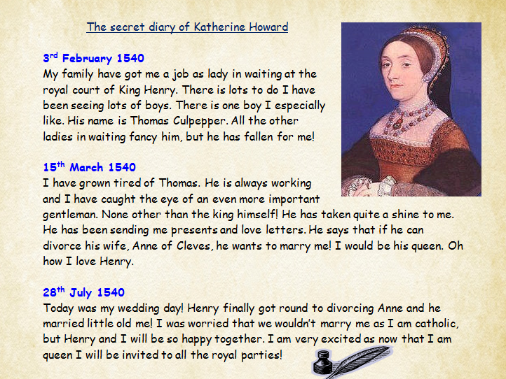 Tudor Diary: The Secret Diary of Katherine Howard Comprehension