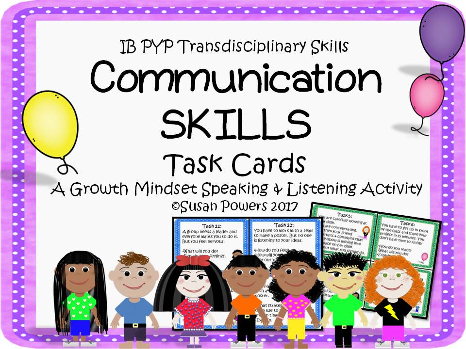 Communication Skills Task Cards Activity for Growth Mindset