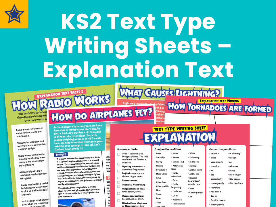 KS2 Text Types - Explanation Texts: Writing Planners And Model Texts