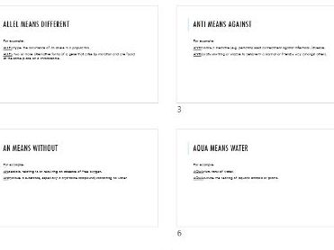 Science prefixes (KS3 &KS4)