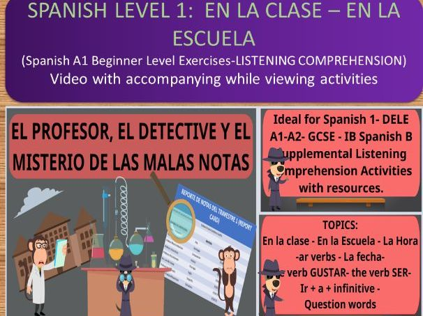 Introduction to -AR VERBS in Spanish. Listening Comprehension Exercise