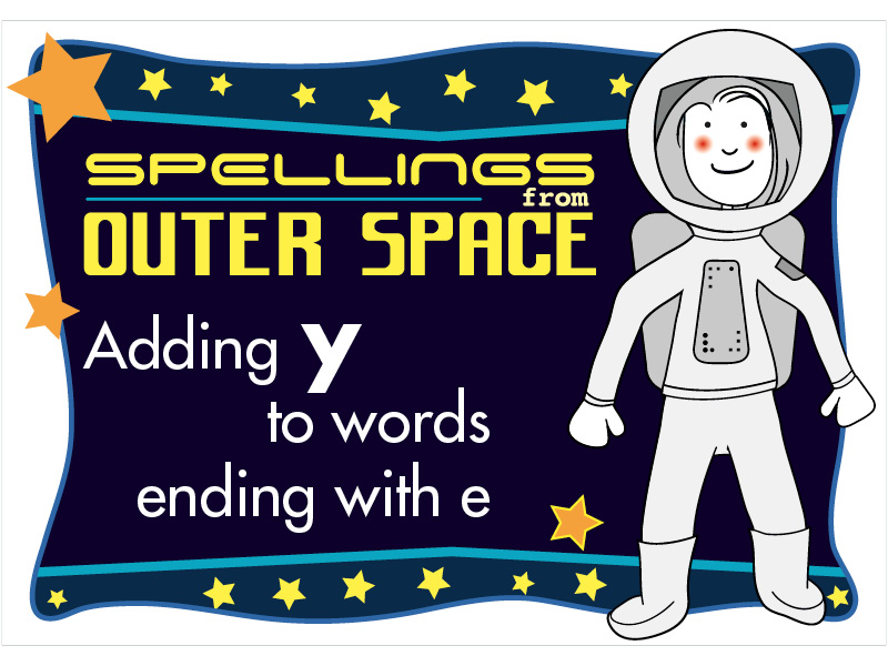Year 2 Spellings Adding Y to words ending with E