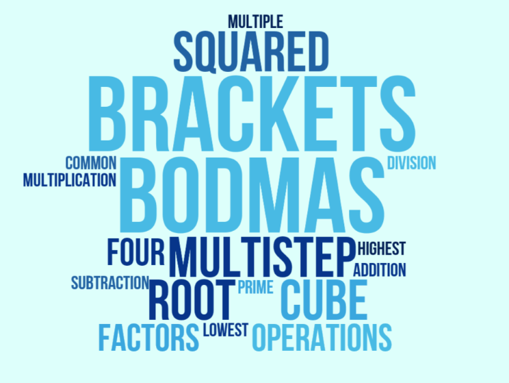 UKS2 (Year 5 and Year 6) Brackets, squares, cubes, order of operations and BODMAS.