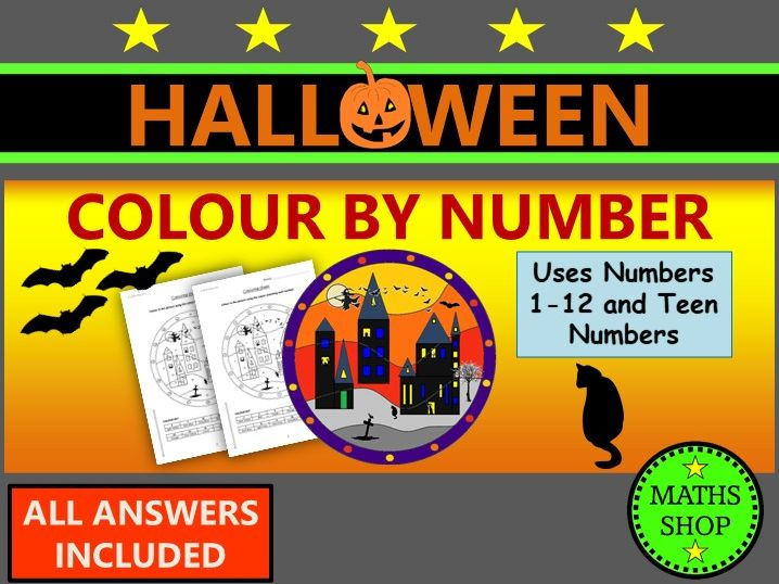 Halloween  Colour by Number Spooky Picture