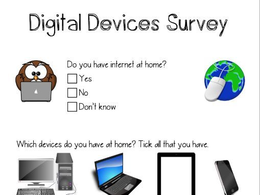 Digital Devices Survey - Home Learning & Online Safety