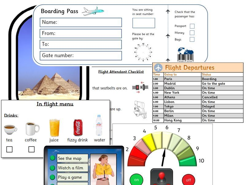 EYFS Airport/Aeroplane Role Play Resource Pack