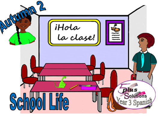 Primary Spanish WORKSHEET: Lección 3 To answer the register (Year 3 School Life)