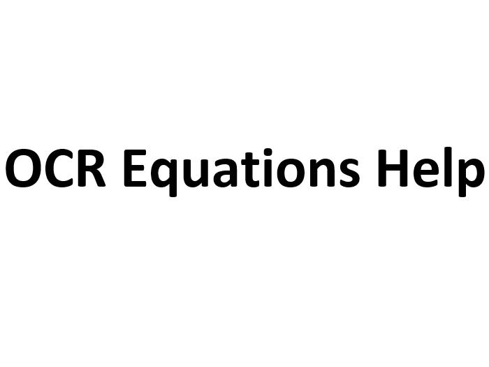 OCR Physics Equations