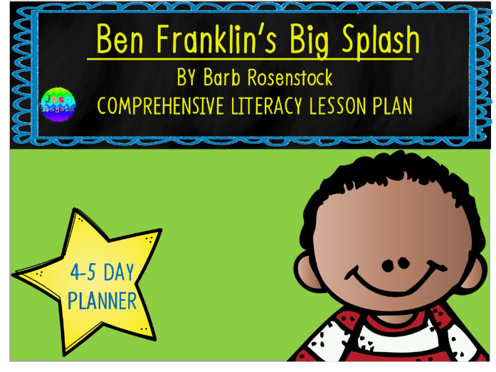Ben Franklin's Big Splash by Barb Rosenstock 4-5 Day Lesson Plan and Activities