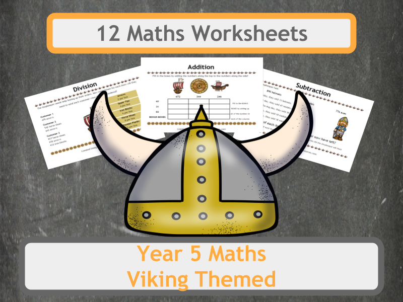 Viking Themed Maths Worksheets - Year 5