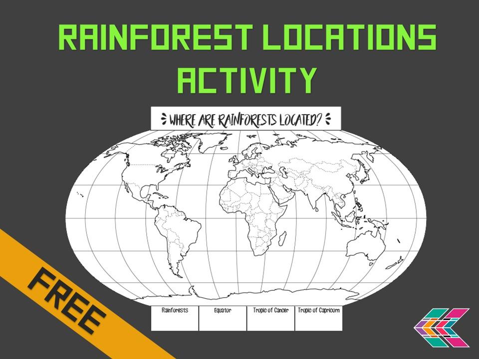 Rainforest Locations Map Activity