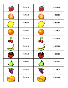 Frutta (Fruit in Italian) Dominoes