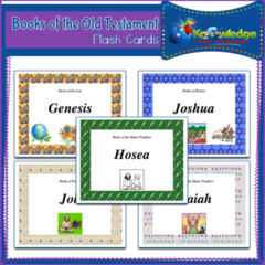 Books of the Old Testament Flash Cards for Tablets  - 42 pages