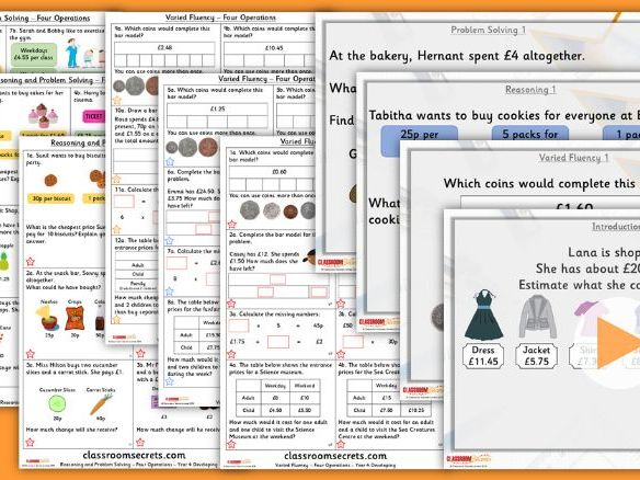 Year 4 Four Operations Summer Block 2 Lesson Pack