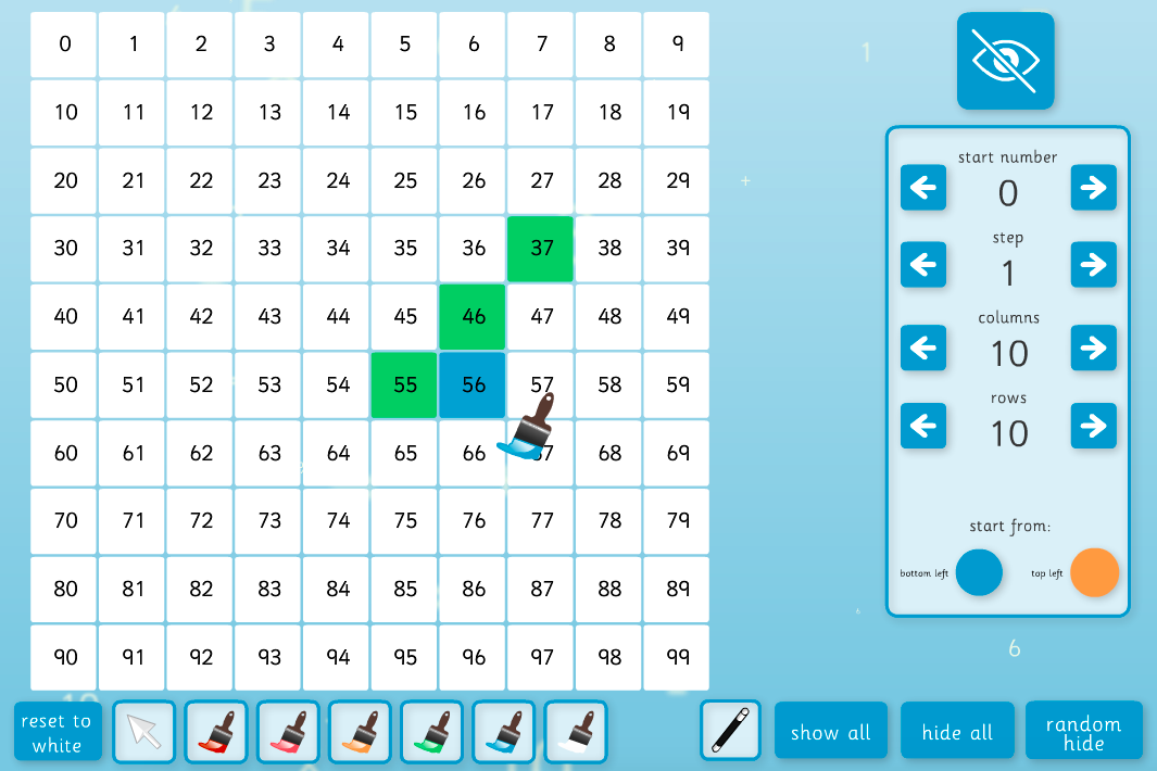 Number Square Interactive Tool - KS1/KS2 Number