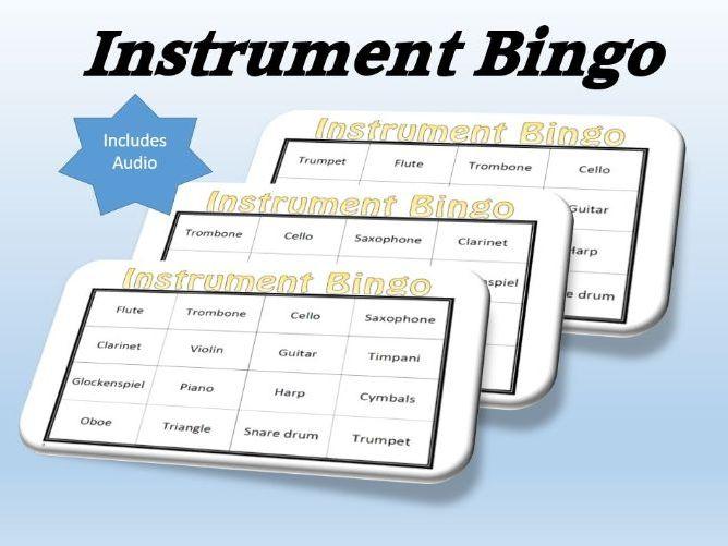 Instrument Bingo (includes audio)
