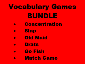 Vocabulary games in Portuguese Bundle