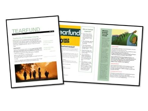 AQA Exam Booklet: Christian Practices: Tearfund