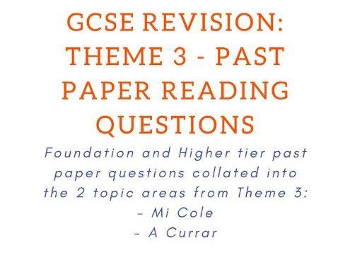 Past Paper Reading Questions - Theme 3: Education & Employment