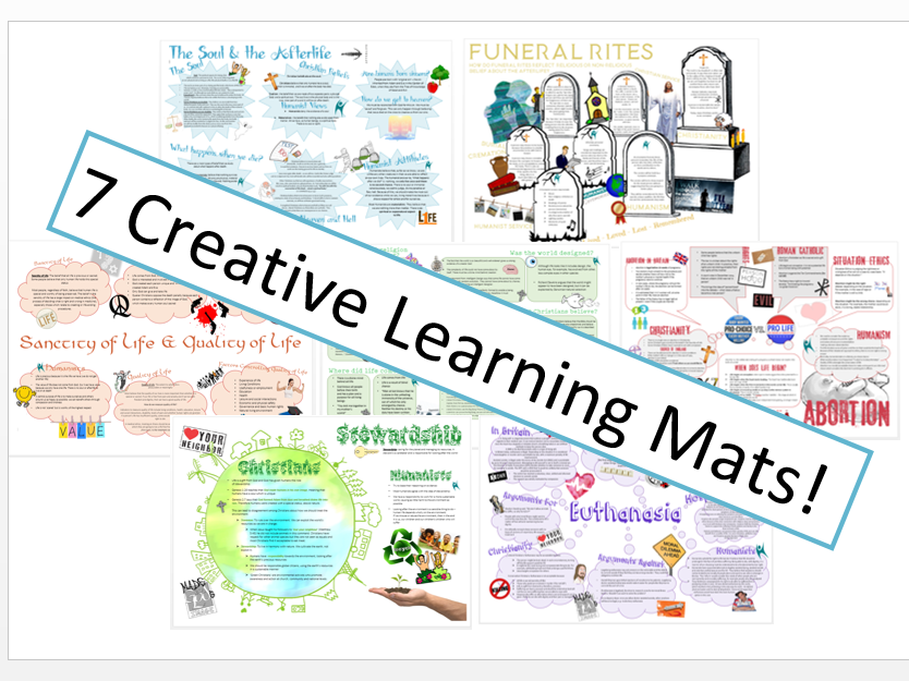 WJEC Eduqas Issues of Life and Death Learning Mat Bundle