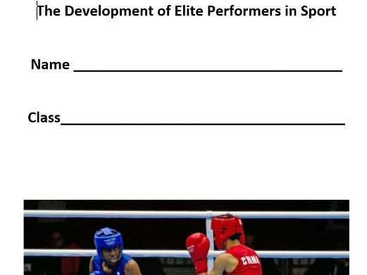AQA A Level PE - 4.2 The Development of Elite Performers in Sport