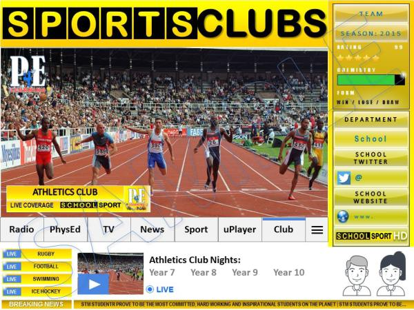 Sports Club & Extra Curricular Poster Templates   PE4Learning