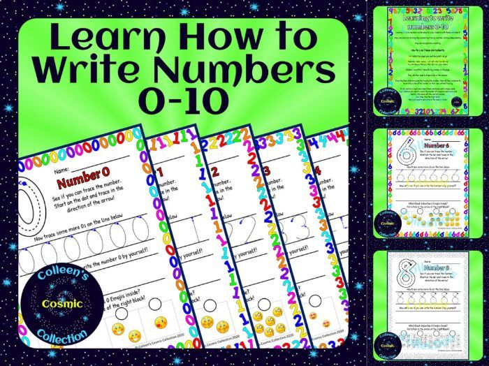 Learning to Write Numbers 0-10
