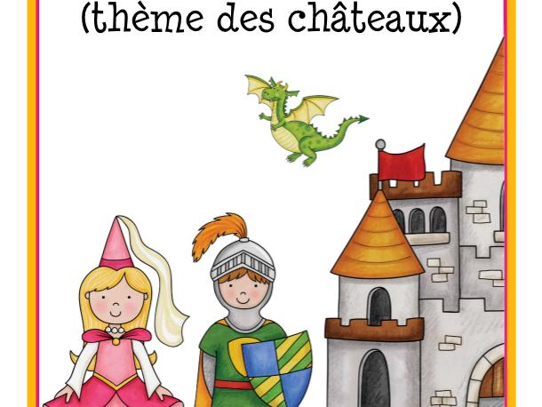 Calendrier et étiquettes (thème des châteaux)  Mediaval Calendar in French