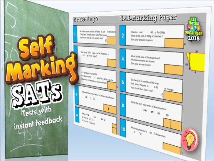 NEW KS2 SATs Maths Revision Self-marking Tests