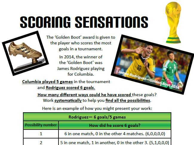 World Cup Football Maths Investigations KS2
