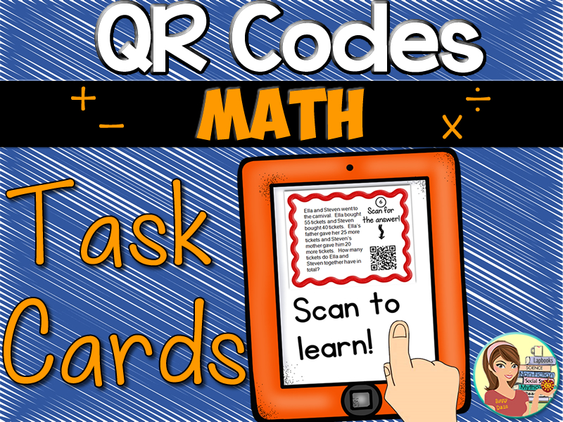 QR Codes: Math Word Problem Task Cards