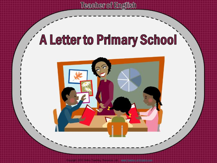 Writing a Letter to Primary School