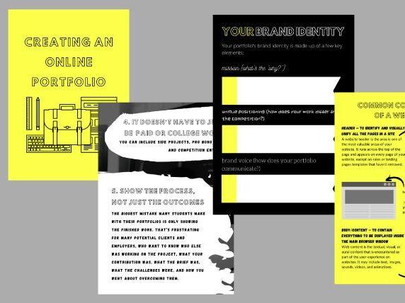 Creating An Online Media/Photography/Film/ Portfolio Workbook (Printed/Digital)