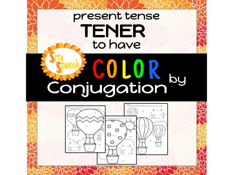 Color by Conjugation- TENER (to have)