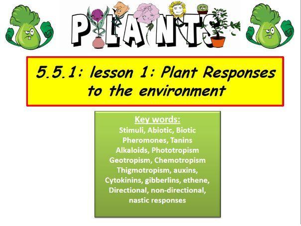 Plant responses - OCR A-level biology A specification unit bundle (5.1.5 or 5.5)
