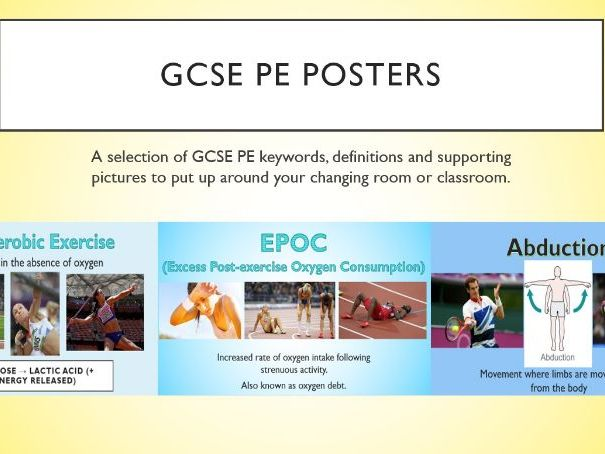 GCSE PE Keyword Posters – Updated Specification