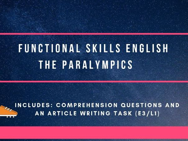 Functional Skills reading and article writing