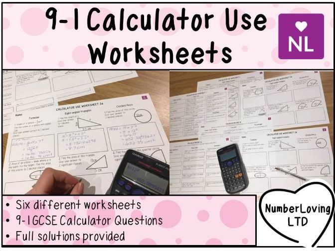AQA Efficient Calculator Use Worksheets GCSE 9-1