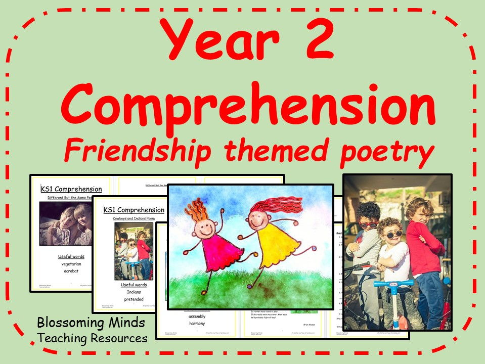 KS1 Poetry Reading Comprehension Bundle (Friendship theme)