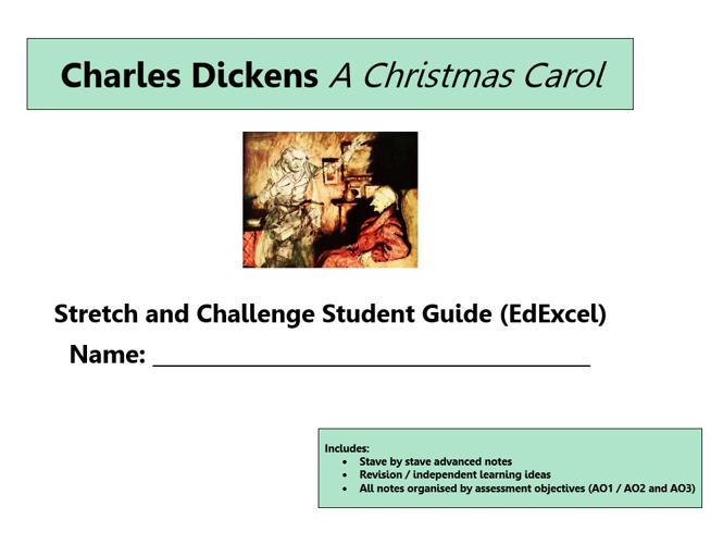 GCSE 9-1 EdExcel A Christmas Carol Scheme of Work / Learning