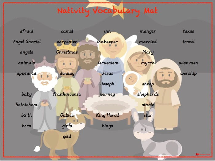 Nativity Vocabulary Mat