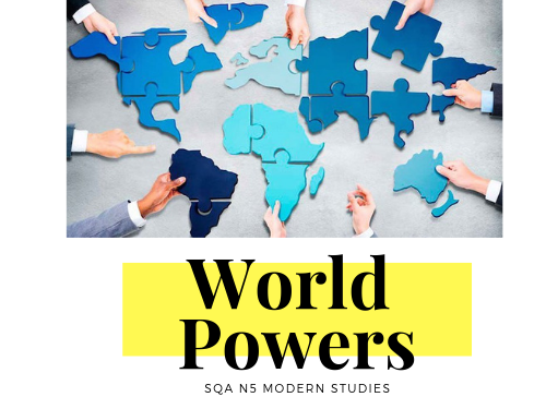 SQA N5 Modern Studies World Powers Revision Booklet Task