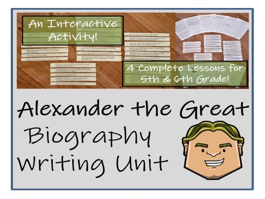 UKS2 History - Alexander the Great Biography Writing Activity