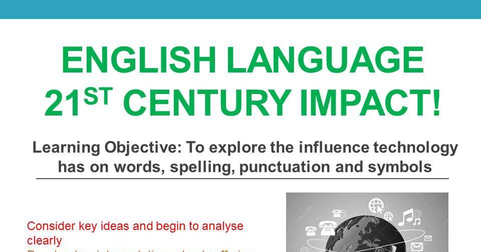 Language Change- Technology and Social Media