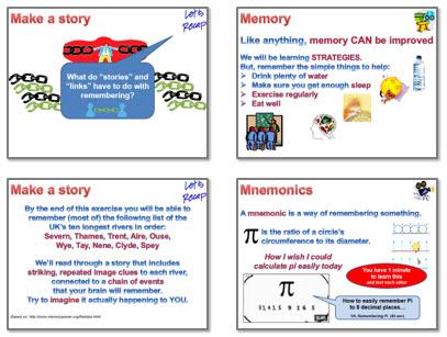 Memory: Strategies 2 - mnemonics