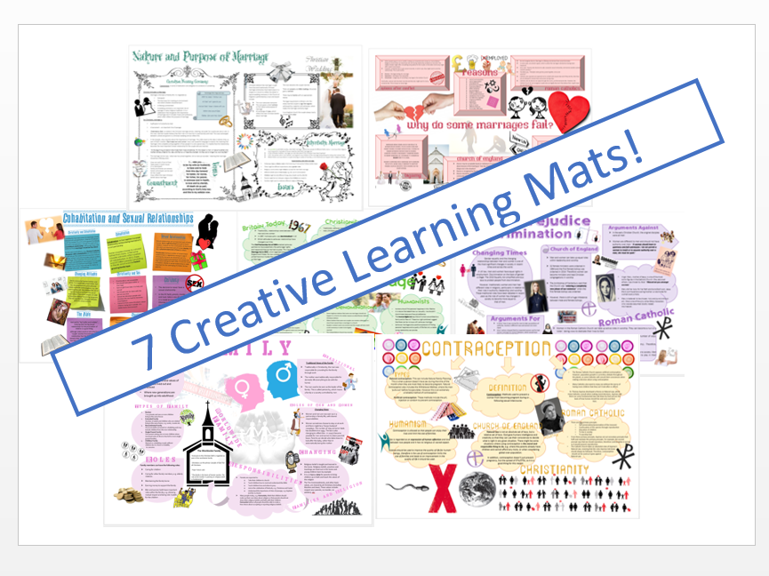WJEC Eduqas Relationships Learning Mat Bundle